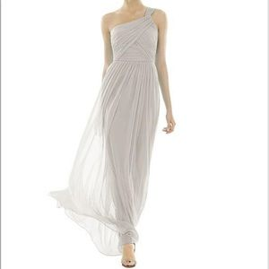 Alfred sung chiffon dress size 2 in oyster